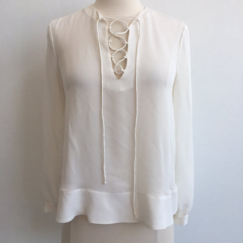 Rebecca Minkoff Lace Up Nell Top NWT