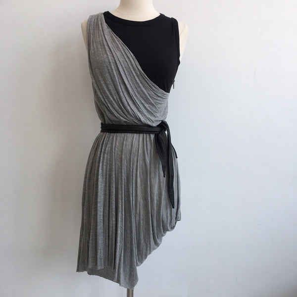 A.L.C. Drape Front Cotton Black w/belt