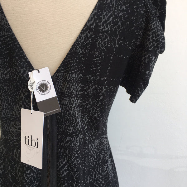 Tibi Black Gray Structured Shoulders NWT