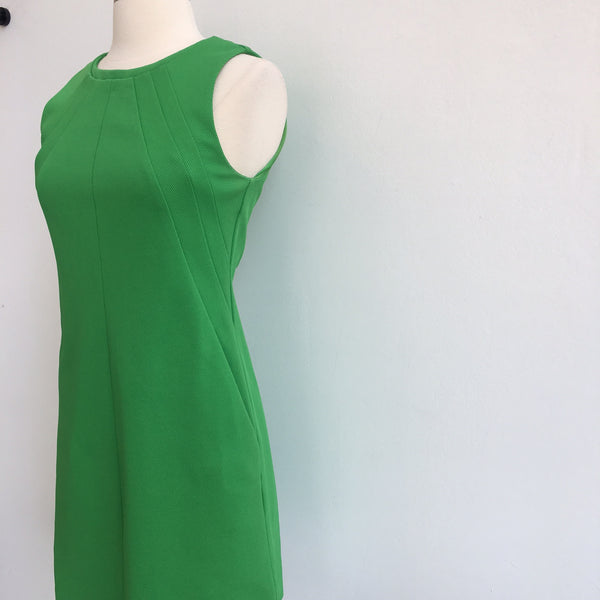 DVF Green Structured Shift w/pockets