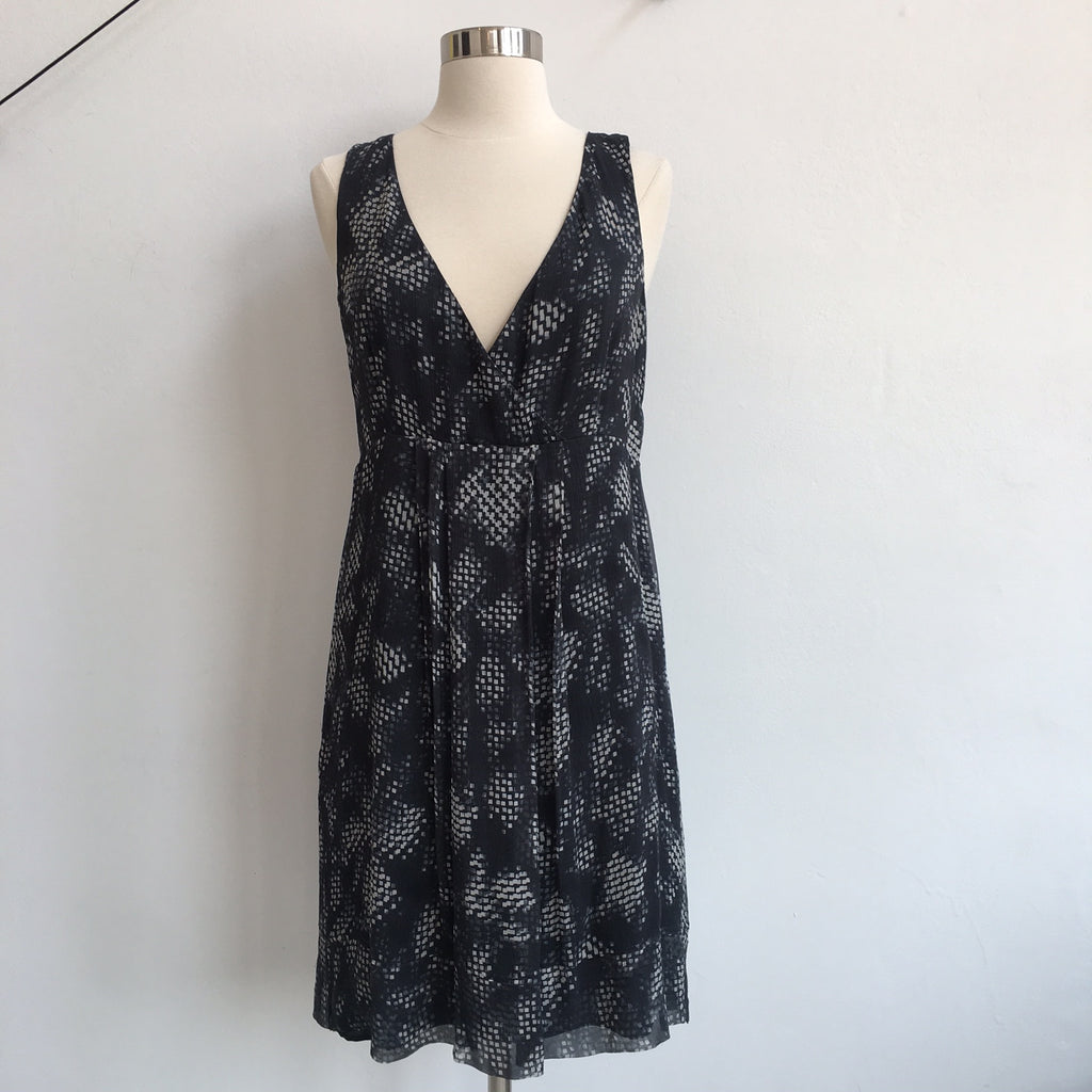 Theory Gray Charcoal V Dress