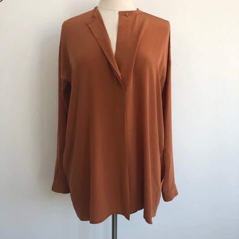 Vince Copper Silk Pullover