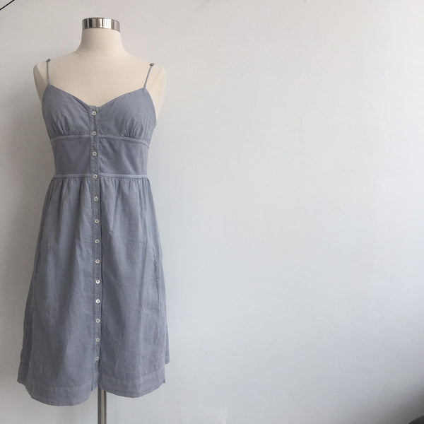 James Perse Light Gray Button Spaghetti Strap NWT