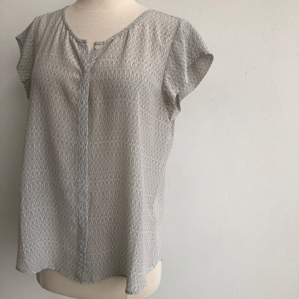Joie Silk Button Blouse Lavender