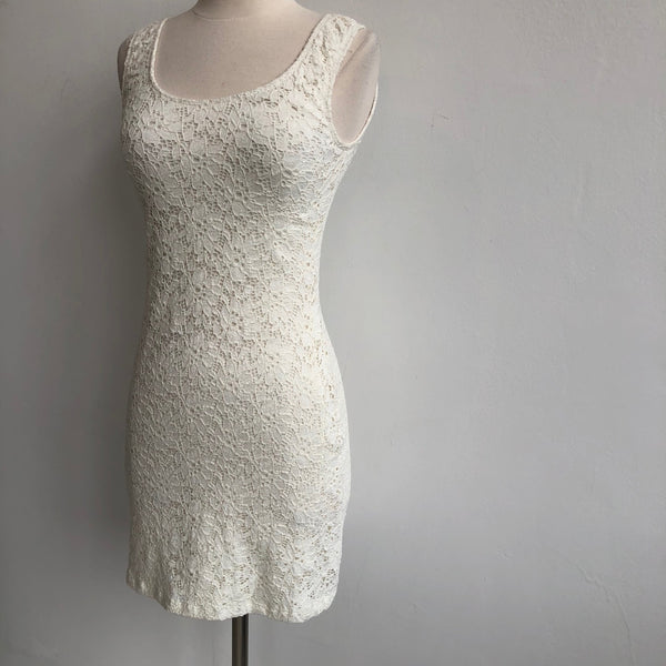 Leyendecker Lace Cream Dress NWT