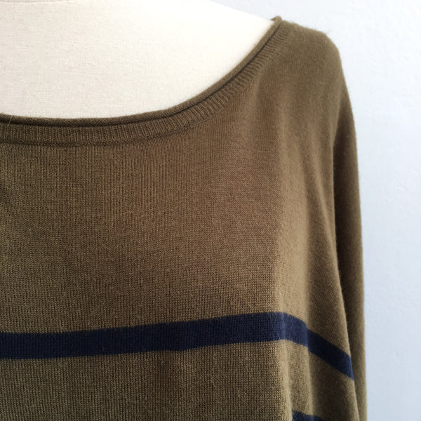 Vince Green Navy Boxy Sweater