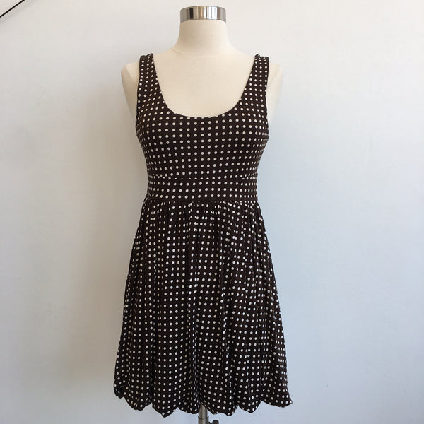 Alice Olivia Brown Polka Dot Flare