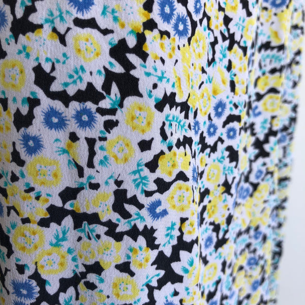 Equipment Silk Shift Floral Yellow