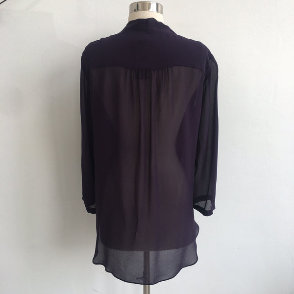 Babaton Deep Plum Silk Blouse