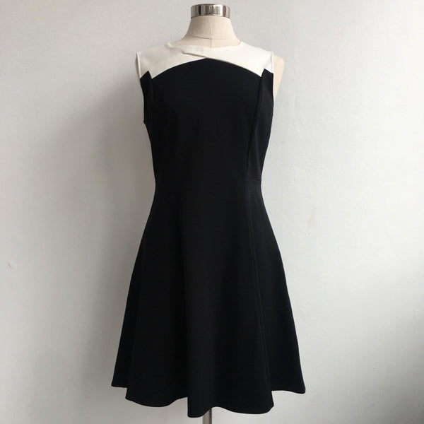 Halston Heritage NWT Black and White Dress