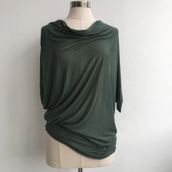 Helmut Green Draped Dolman (M)