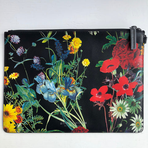 Alice Olivia Floral Black Clutch