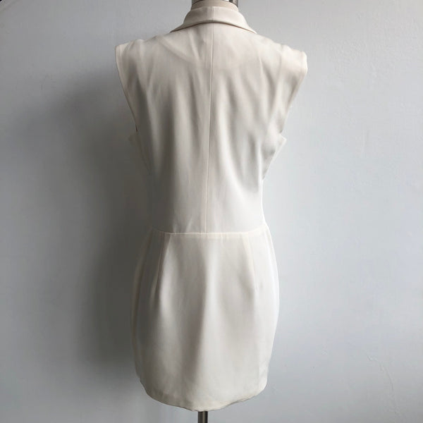 Jennifer Hope Cream Zipper Dress
