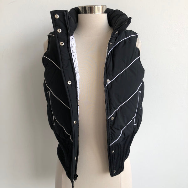 Alice Olivia Black Chevron Vest