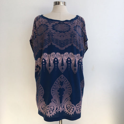 3.1 Philip Lim Blue Purple Dolman Tunic