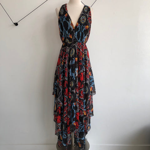 Alice Olivia Floral Black Primary Maxi