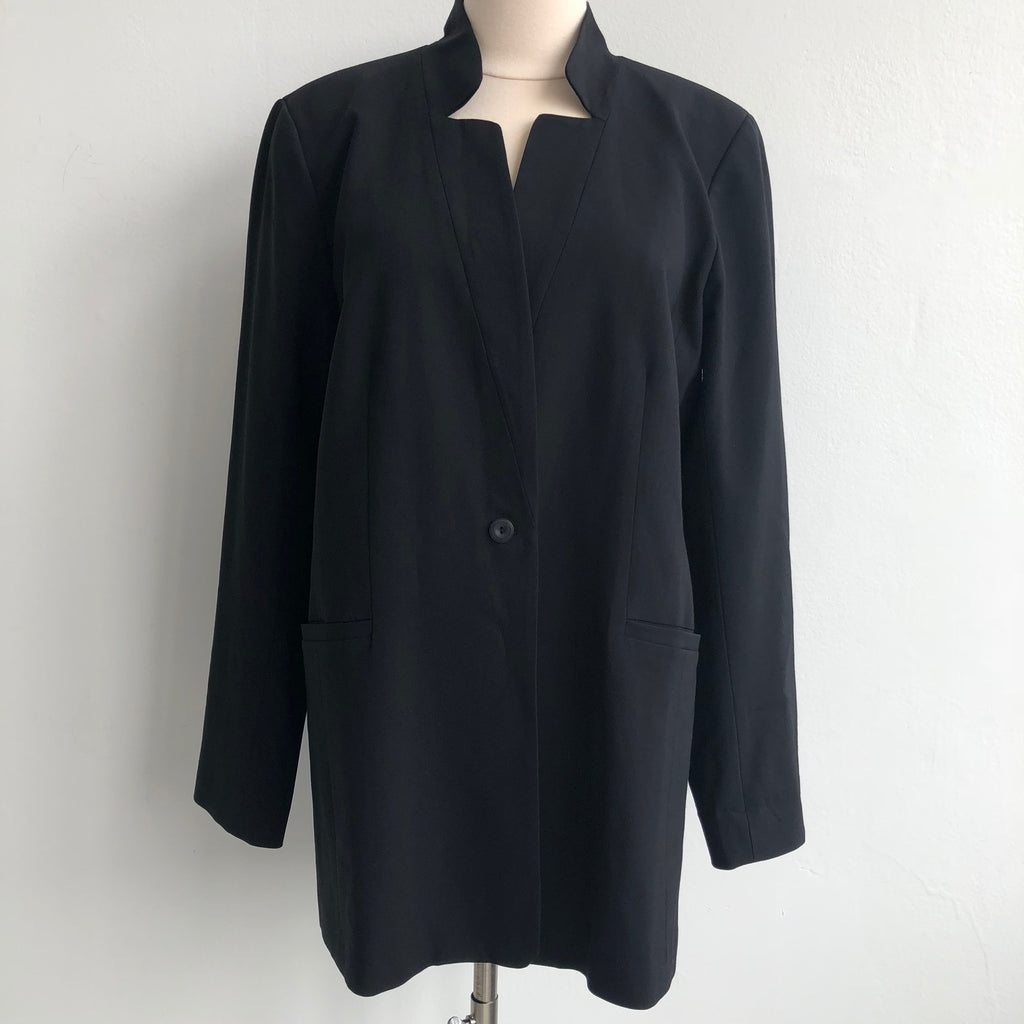 Eileen Fisher Black Long Blazer