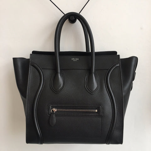 Celine Mini Luggage Black Calfskin