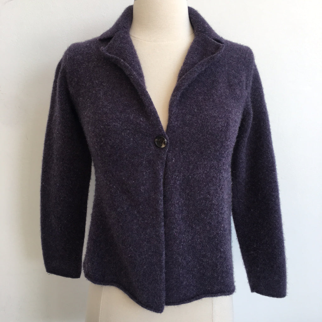 Eileen Fisher Purple Cardigan