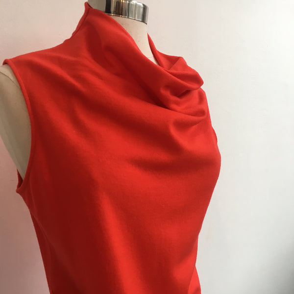 Helmut Lang Red Wool Mock Neck
