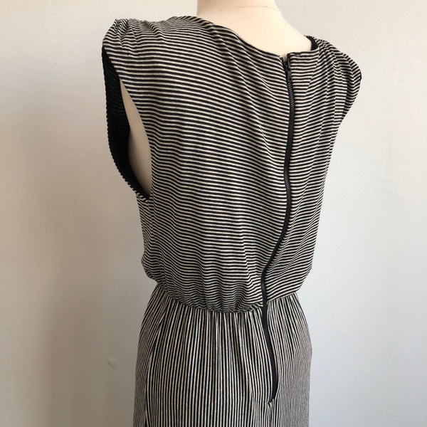 Alice Olivia Black White Stripe Maxi