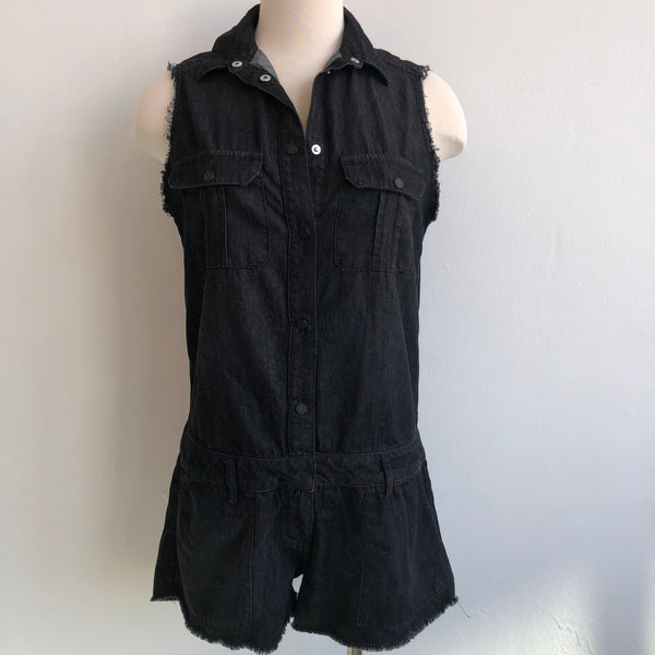Etienne Marcel Dark Wash Shorts Romper