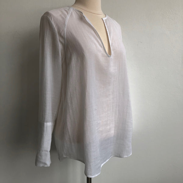 James Perse Long Sleeve Gauze Tunic