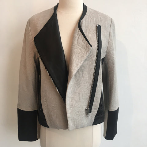 Helmut Lang Leather Accent Asymmetrical