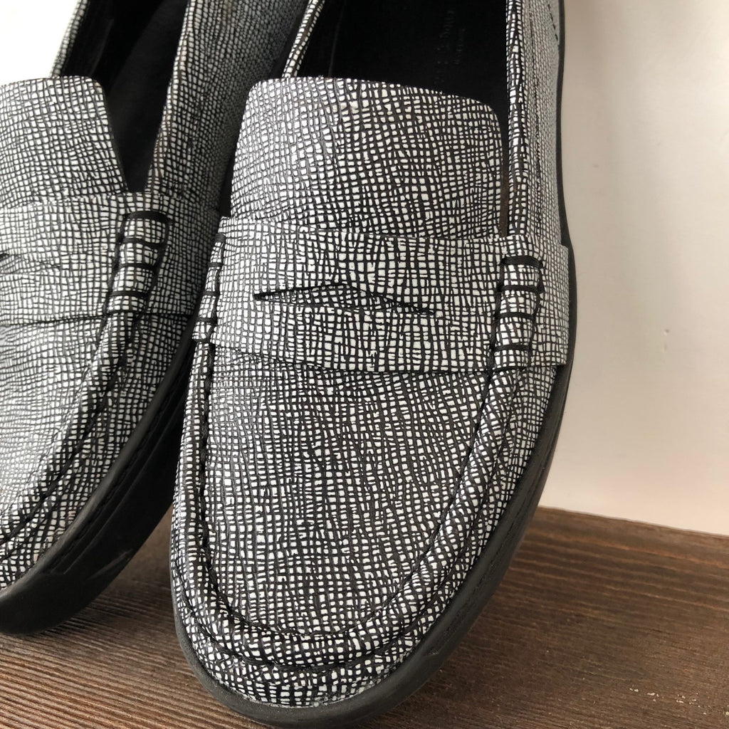 Rag & Bone Black White Loafers