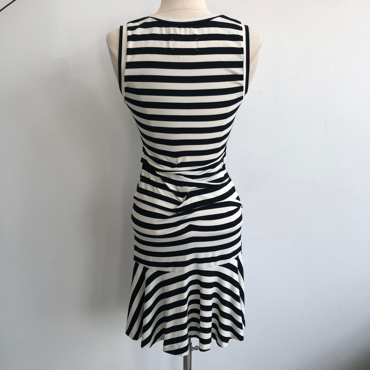 Nicole Miller Striped Ruched Tank Dress