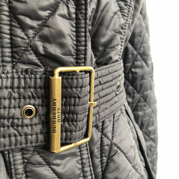 Burberry Quilted Hooded Jacket