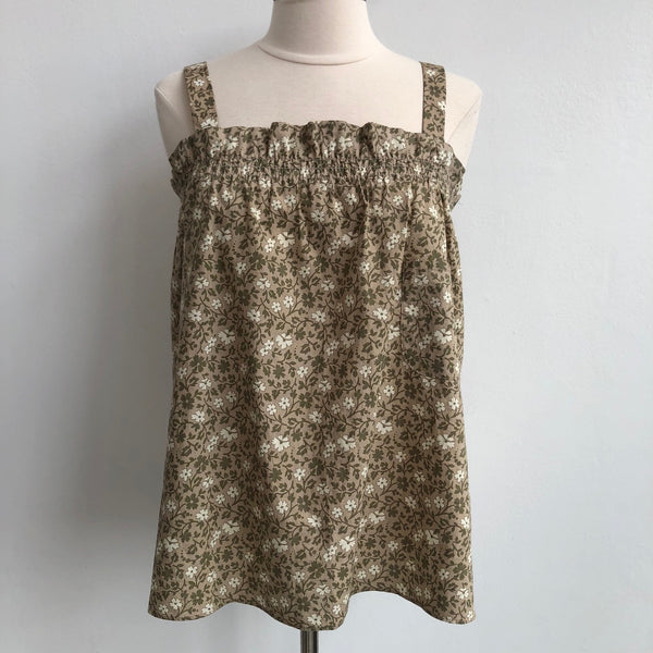 Marc by Marc Jacobs Neutral Floral Tank