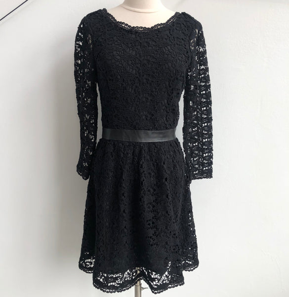 Joie Black Crocheted Dress