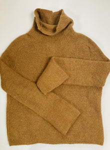 Reformation Camel Funnel Sweater