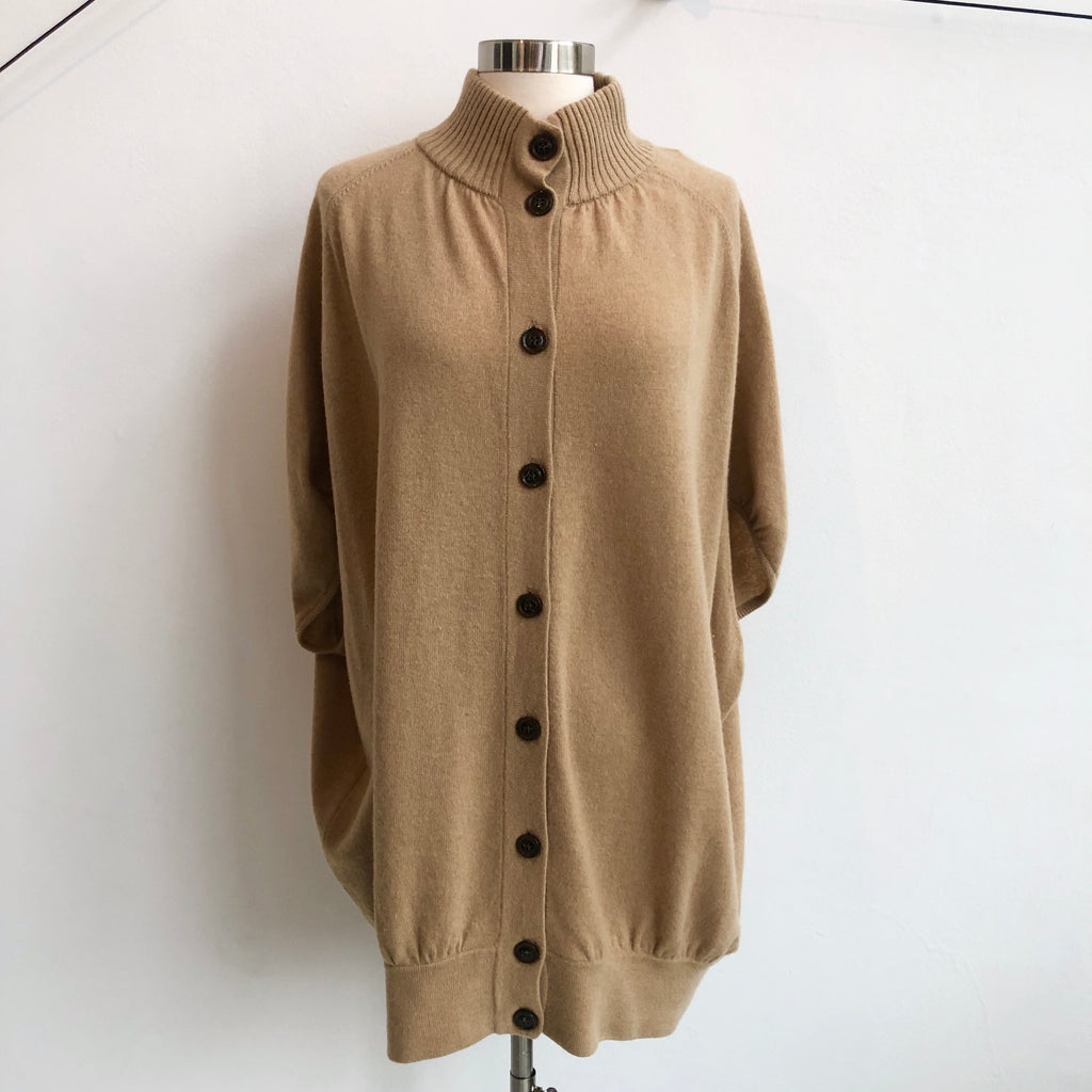 DVF Taupe Button Cardigan