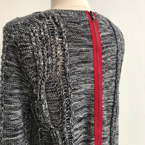 360 Cashmere Open Weave Sweater