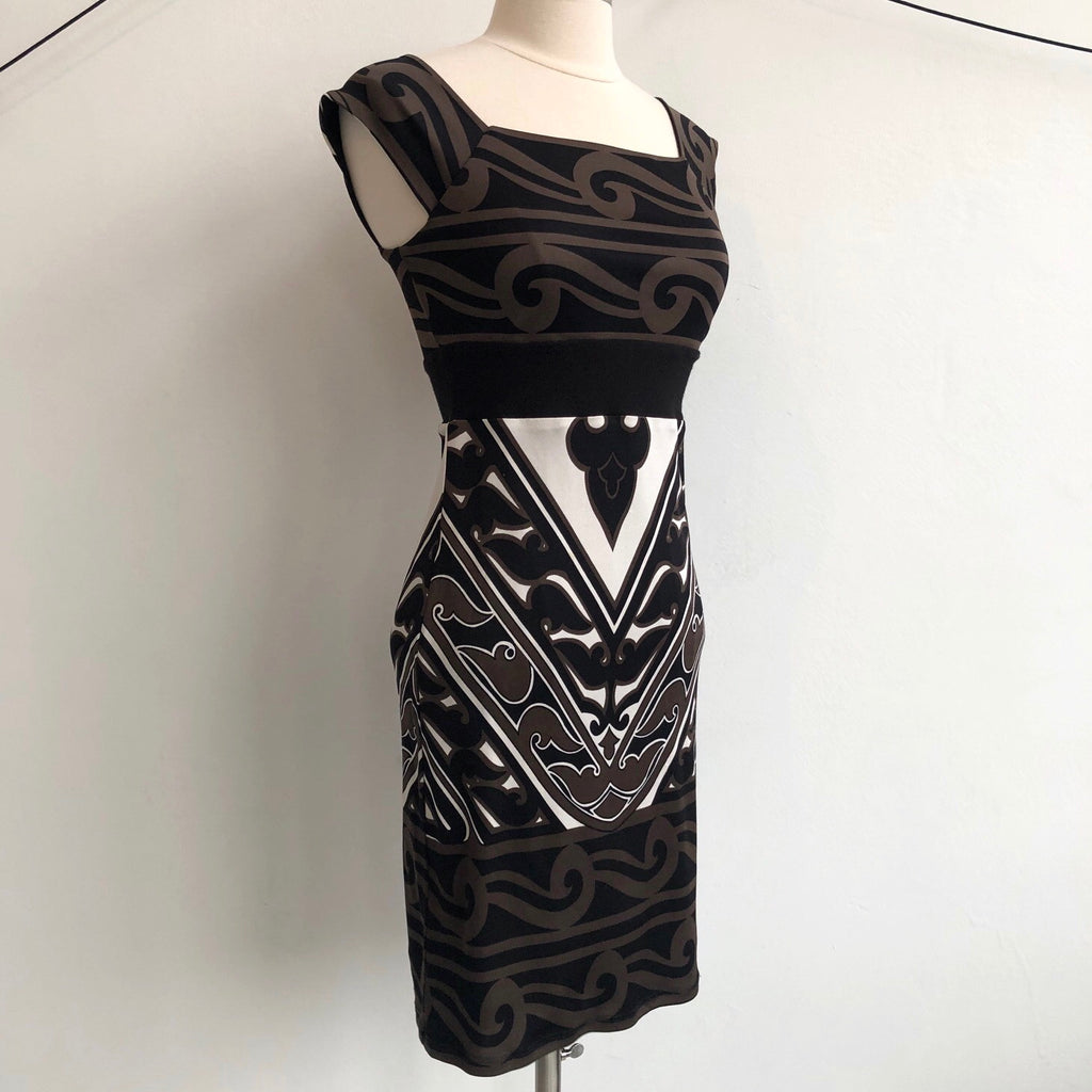 Bailey 44 Brown Black Pattern Dress