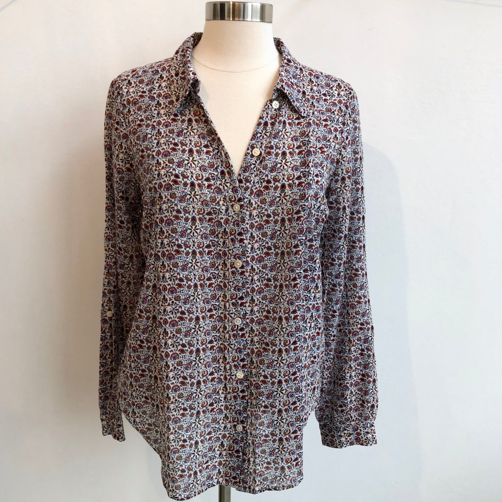 Joie Floral Long Sleeve Blouse