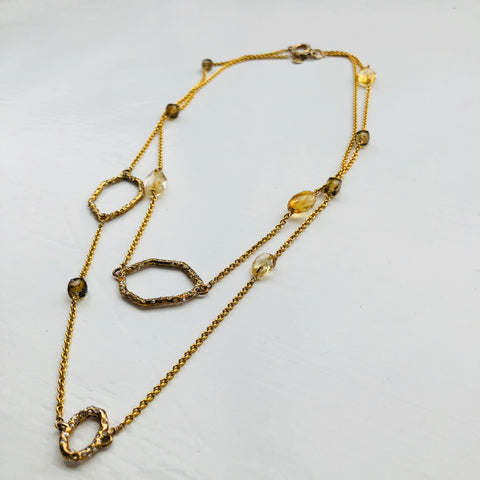Alexis Bittar Crystal Encrusted Chain Necklace