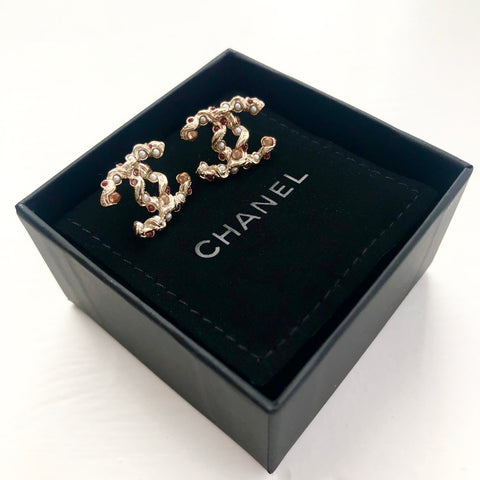 Chanel Twist Studded Earrings