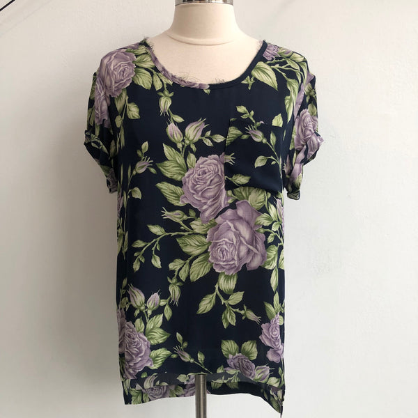 Rag & Bone Purple Floral Silk