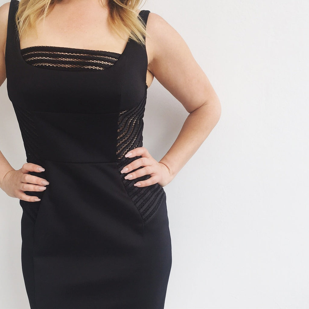 Milly Black NWT Cutout Sides