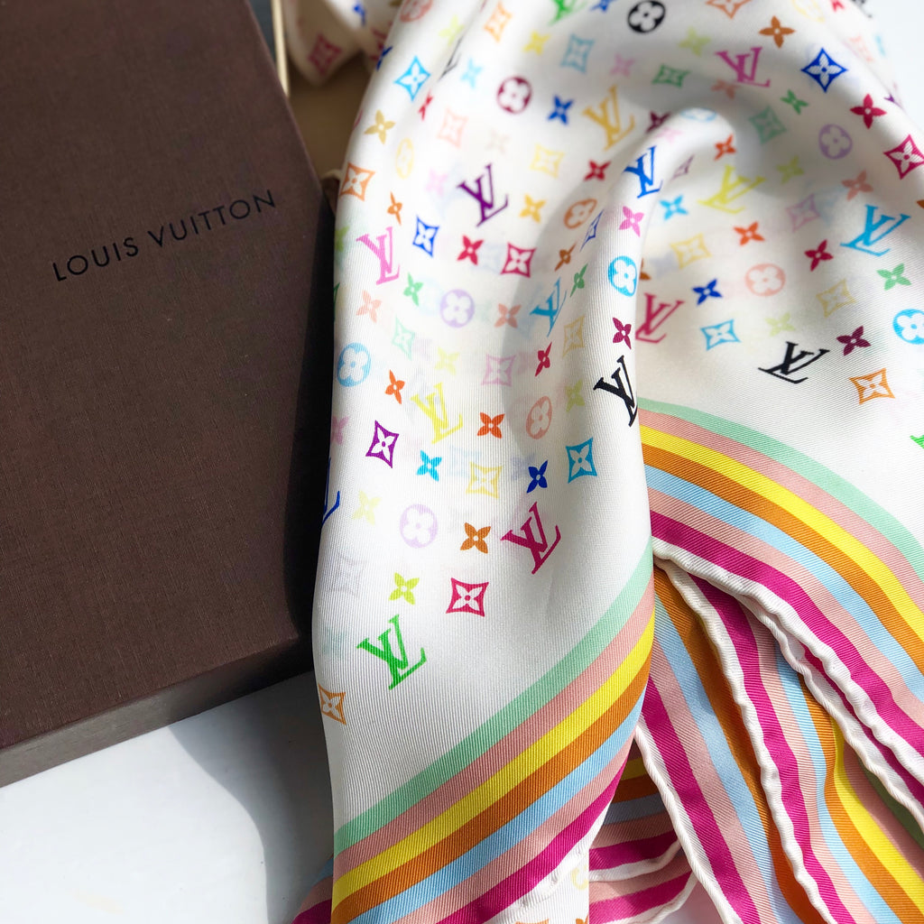 Louis Vuitton Multi Color Monogram Scarf