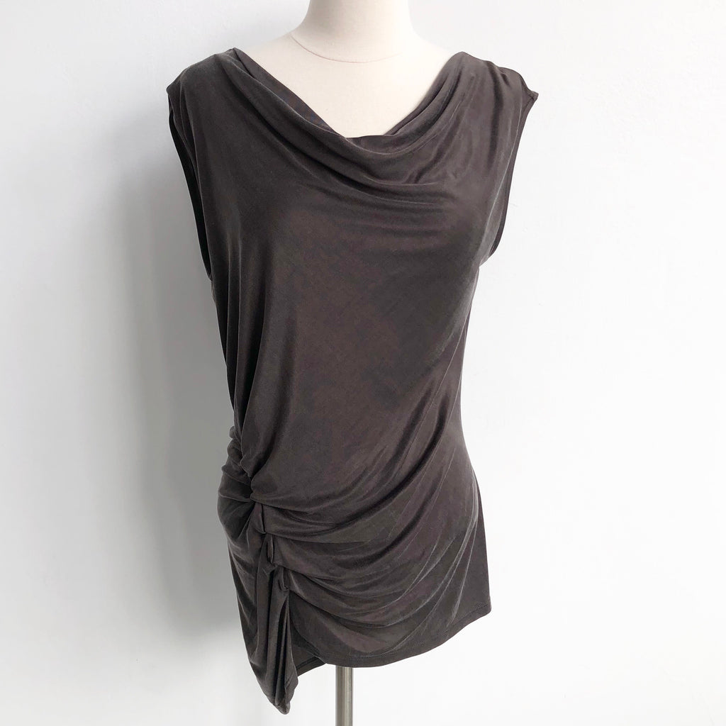 Halston Heritage Ruched Shell NWT