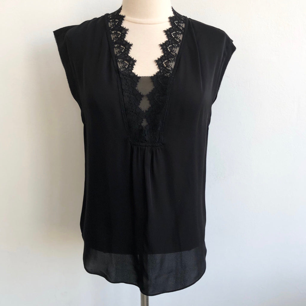 Rebecca Taylor Black Lace Sleeveless