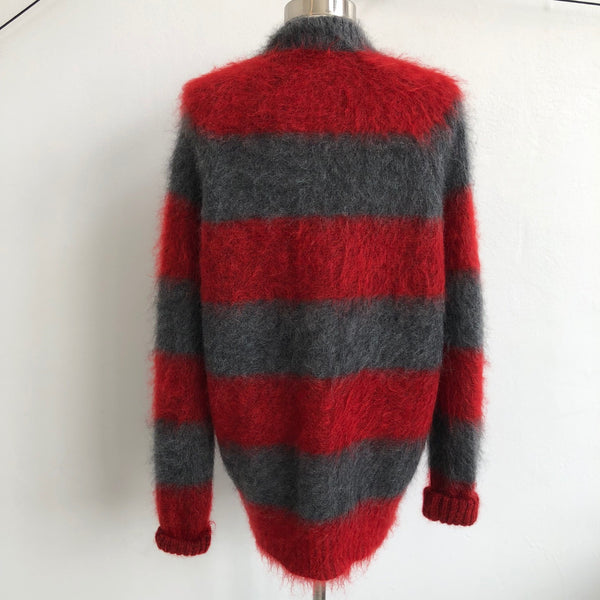 Alexander Wang Red Gray Striped Mohair