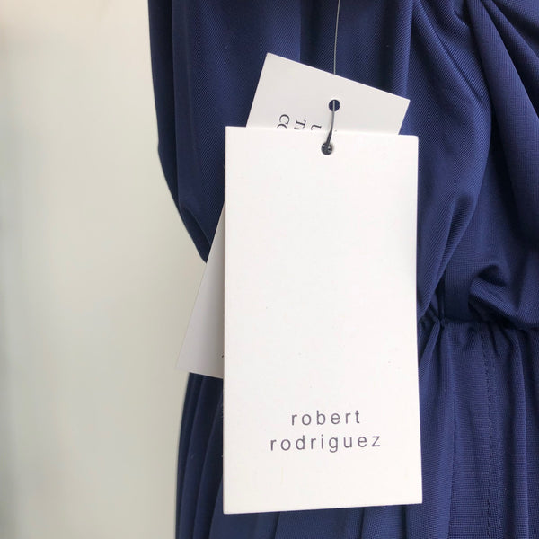 Robert Rodriguez Blue V Dress NWT