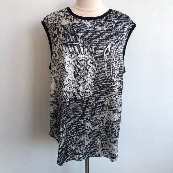 Helmut Lang Black Abstract Silk