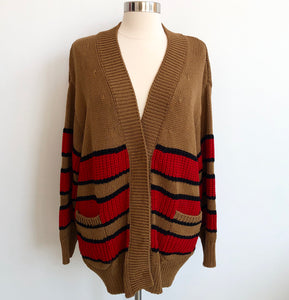 N21 Red Striped Sweater