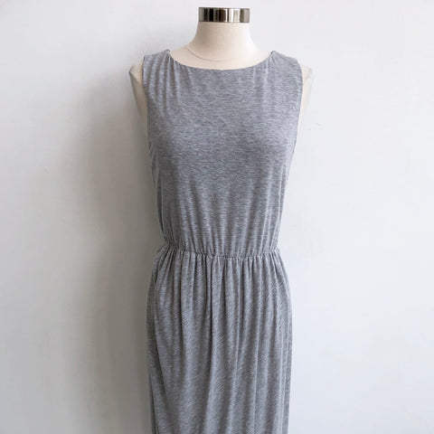 Alice Olivia Gray Maxi Zip Dress